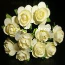 Paper Tea Roses - Cream
