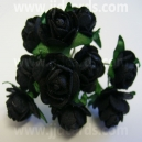 Paper Tea Roses - Black