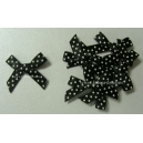 Swiss Dot - Satin Bows - Black
