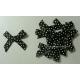 Swiss Dot - Satin Bows - Black