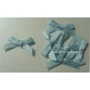 Swiss Dot - Satin Bows - Baby Blue