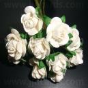 Paper Tea Roses - Soft White