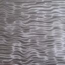 Brushed Silk Mirri - Silver Ripple