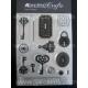 Acrylic Stamps - Keys & Locks