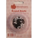 6MM ROUND BRADS - BLACK AND WHITE - 40