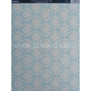 Background Card - Italian Vintage Damask Aqua