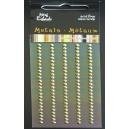 Metallic Self Adhesive Gems - Gold