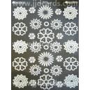 Diecut Acetate Flowers - White