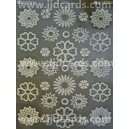 Diecut Acetate Flowers - Silver