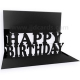 Pop Up Card - Black Happy Birthday - POP2007