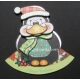 Kanban Christmas Wobbler - Patrick the Penguin
