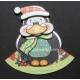 Kanban Christmas Wobbler - Patrick the Penguin