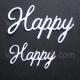 BRITANIA DIES - HAPPY WORD SET - 001