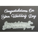BRITANNIA DIES - CONGRATULATIONS ON YOUR WEDDING DAY WORD SET - 005