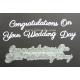 BRITANNIA DIES - CONGRATULATIONS ON YOUR WEDDING DAY -  WORD SET - 005