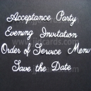 Wedding Etiquette Word Set