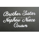 BRITANNIA DIES - BROTHER SISTER NEPHEW NIECE COUSIN - WORD SET - 019