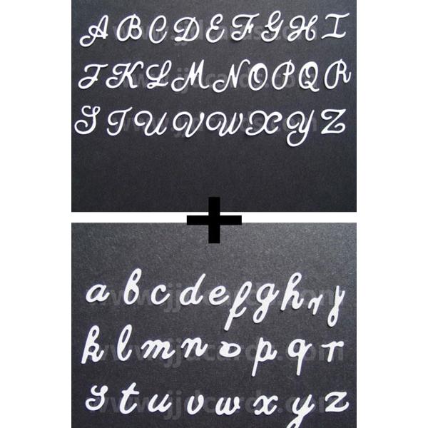 Britannia Dies Upper Amp Lowercase Alphabet