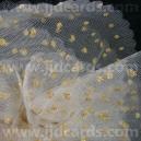 Luxury Mesh - Gold Glitter Spots