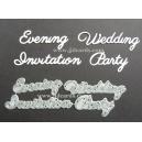 BRITANNIA DIES - WEDDING INVITATION EVENING PARTY - WORD SET - 080