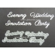 BRITANNIA DIES - WEDDING INVITATION EVENING PARTY - WORD SET - 080