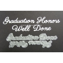 BRITANNIA DIES - GRADUATION WELL DONE HONORS - WORD SET - 039