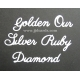BRITANNIA DIES - GOLDEN OUR SILVER RUBY DIAMOND - WORD SET - 007