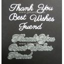 BRITANNIA DIES - THANK YOU BEST WISHES FRIEND - WORD SET - 011