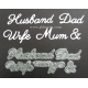 BRITANNIA DIES - HUSBAND WIFE MUM & DAD - WORD SET - 018