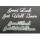 BRITANNIA DIES - GOOD LUCK GET WELL SOON - WORD SET - 029