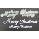 BRITANNIA DIES - MERRY CHRISTMAS WORD SET - 042 & 003