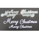 BRITANNIA DIES - MERRY CHRISTMAS WORD SET - 042 & 003