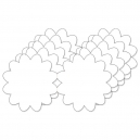 Flower Shaped Card - SHA197