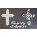 BRITANNIA DIES - CHRISTENING & CONFIRMATION WORD SET WITH FILIGREE CROSS - 034 & 090