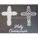 BRITANNIA DIES - HOLY COMMUNION WORD SET WITH FILIGREE CROSS - 035 & 090