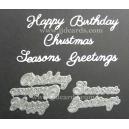 BRITANNIA DIES - HAPPY BIRTHDAY CHRISTMAS SEASONS GREETINGS MULTI-BUY - 041 & 037