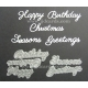 BRITANNIA DIES - HAPPY BIRTHDAY CHRISTMAS SEASONS GREETINGS MULTI-BUY - 041 & 037