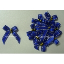 Beaded Bows - Blue/Gold