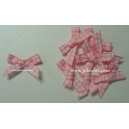 Gingham Bows - 6mm - Baby Pink