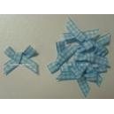 Gingham Bows - 6mm - Baby Blue