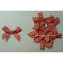 Gingham Bows - 6mm - Red