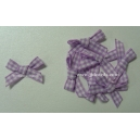 Gingham Bows - 6mm - Lilac