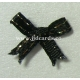 Metallic Edge Bows - Black