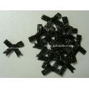 Metallic Edge Bows - Black