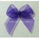 Organza Bows - Purple