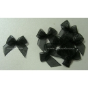 Organza Bows - Black