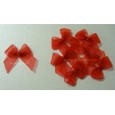 Organza Bows - Red