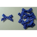 Swiss Dot - Satin Bows - Blue