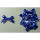 Swiss Dot - Satin Bows - Blue