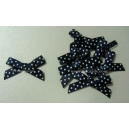 Swiss Dot - Satin Bows - Navy